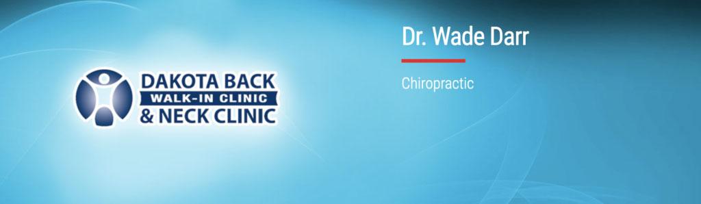 dr wade darr chiropractor north dakota